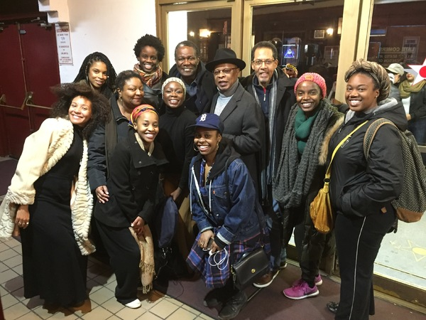 Susan Kelechi Watson from THIS IS US and Obie-winning actor John Douglas Thompson visit 'SCHOOL GIRLS' at MCC Theater