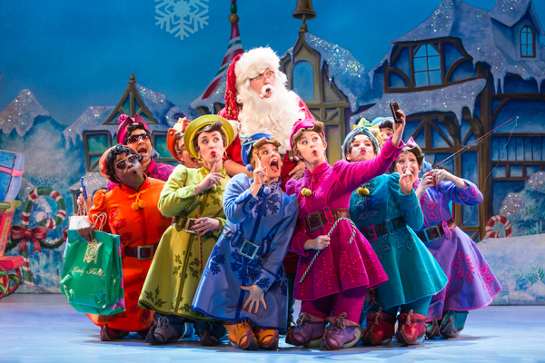 Ken Clement as Santa and the cast of ELF THE MUSICAL