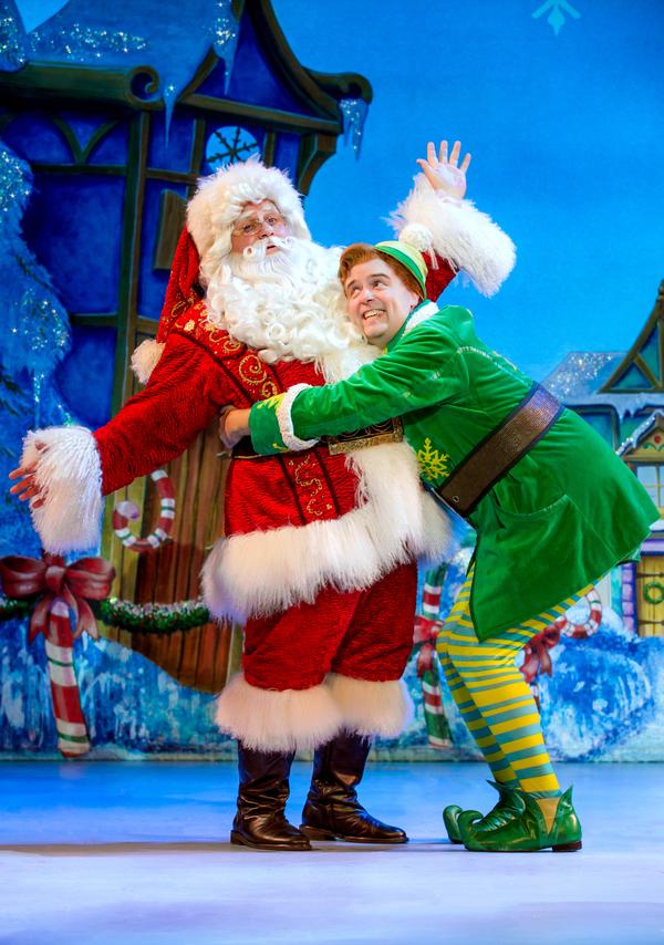 Ken Clement as Santa and Erik Gratton as Buddy Photo