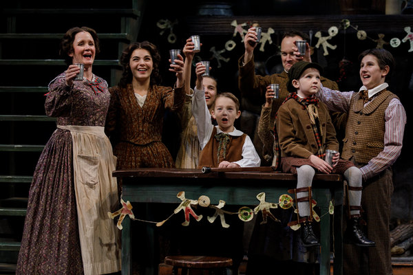 Jean McCormick (Mrs. Cratchit), Jamie LaVerdiere (Bob Cratchit) and the Cratchit Family