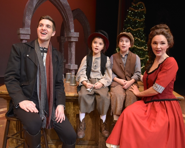 L to r: Zach Trimmer (as Noel, The starman),  Molly Lyons, Haylie Shea Cristiano, Bo Photo