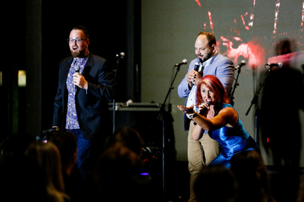 Tim Moxey, Dan Steinhauer, and Linda Wood perform during ANGELS Australian launch party on November 28.