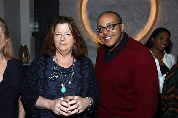 Playwrights Theresa Rebeck and Aurin Squire
