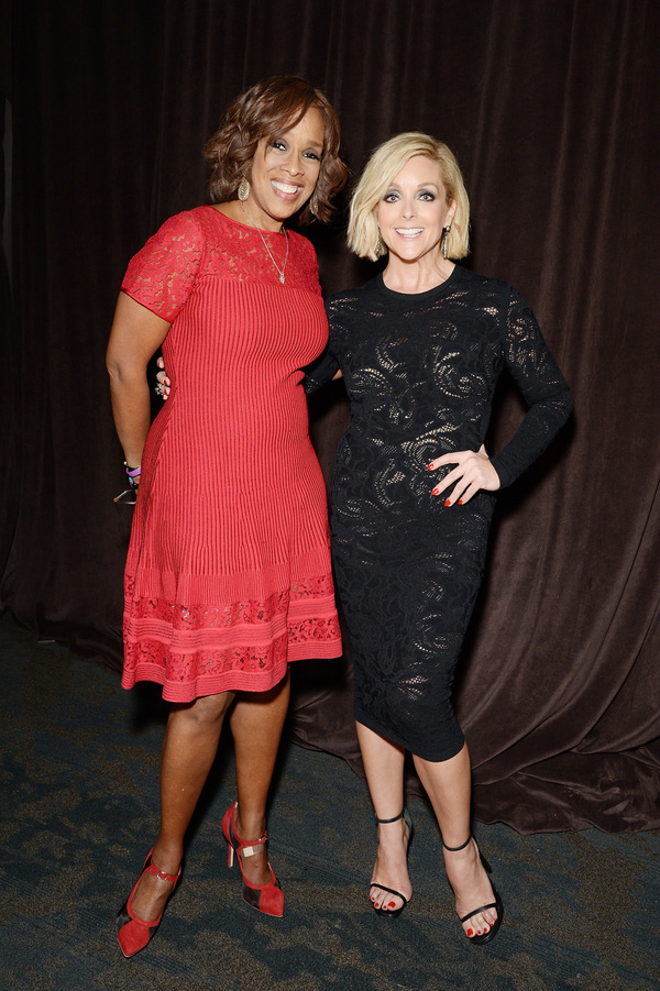 TV personality Gayle King and actress Jane Krakowski