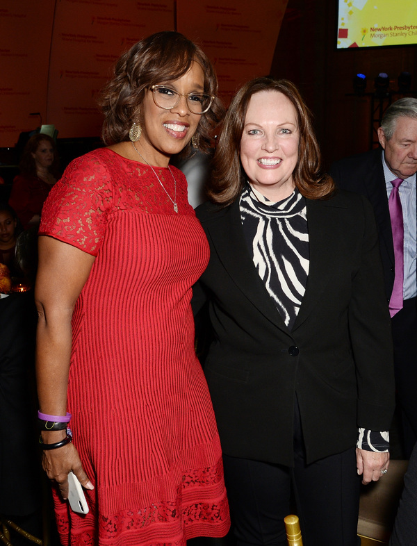 TV personality Gayle King and Ellen Corwin