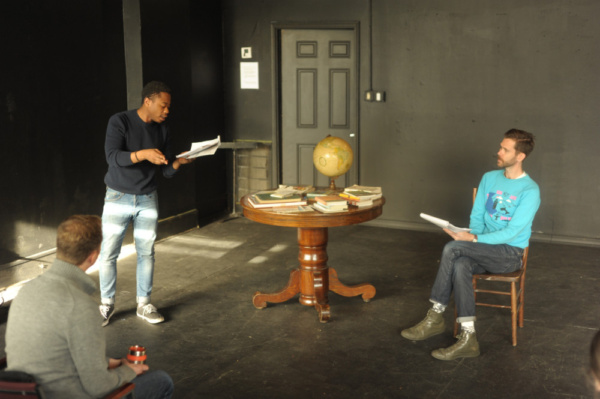 Photo Flash: In Rehearsal with Philip Dawkins and Daniel Kyri for 25th Anniversary Staged Reading of Lonely Planet