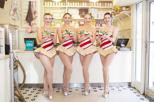 Photo Flash: The Rockettes Unveil 'Rockette Red Velvet' Cupcake at Magnolia Bakery