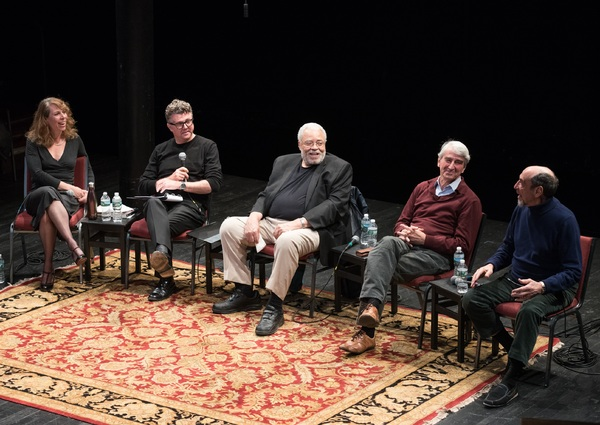Scholar Tanya Pollard, Public Shakespeare Initiative Director Michael Sexton, James Earl Jones, Sam Waterston and F. Murray Abraham