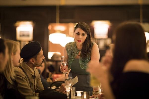 Raj Aich as Romesh and Sophie Khan Levy as Ursula