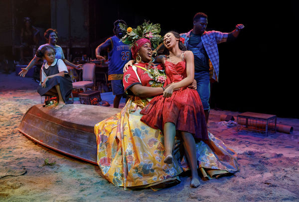Mia Williamson, Alex Newell, Hailey Kilgore and the cast of Once On This Island. Photo: Joan Marcus