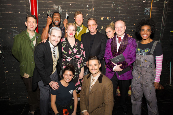 Tim Allen with the cast of THE PLAY THAT GOES WRONG