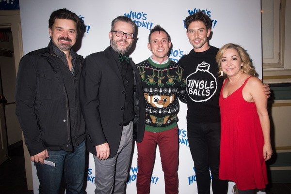 Hunter Foster, Jeremy Kushnier, Nick Cearley, Nick Adams and Jennifer Cody