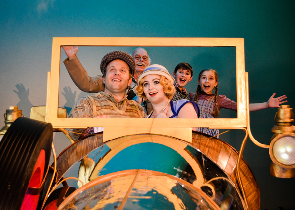 Nelsen Spickard as Grandpa Potts, Ryan Patrick O'Donnell as Caractacus Potts, Mackenzie Brown as Truly Scrumptious, Evelyn Cantwell as Jemima Potts, Gracie Payne as Jeremy Potts