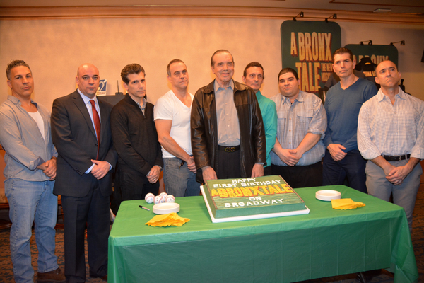Chazz Palminteri with Charlie Marcus, Paul Salvatoriello, Joey Sorge, Robert Neary, Ted Brunetti, Michael Barra, Joe Barbara and Jonathan Brody