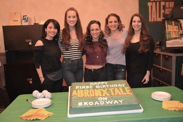 Michelle Aravena, Kaleigh Cronin, Brittany Conigatti, Shanno Mullen and Hillary Porter