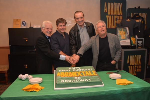 Jerry Zaks, Glenn Slater, Chazz Palminteri and Alan Menkin