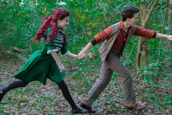 (L to R) Bree Hollis as Winnie Foster and Aaron Richert as Jesse Tuck Photo by: Joshua Frederick
