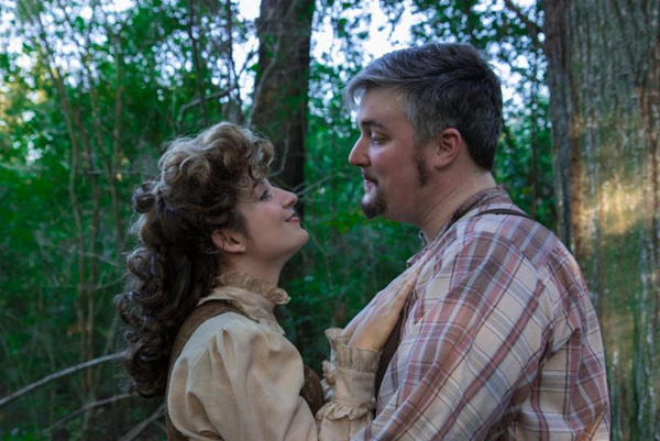 (L to R) Melissa Hunter as Mae Tuck and Patrick Hunter as Angus Tuck Photo by: Joshua Frederick