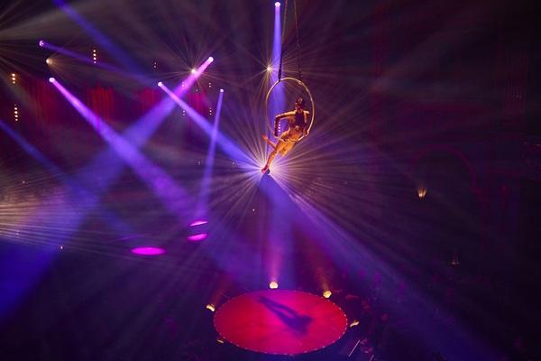 Lea Hinz on aerial hoop