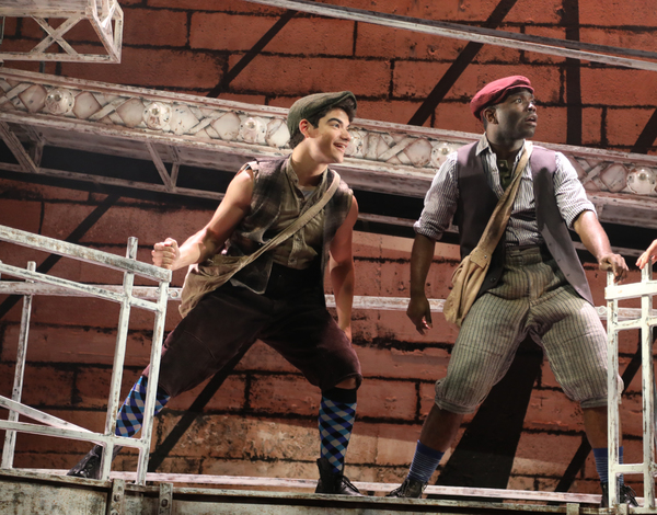 Anthony Michael Zas and Brandon L. Whitmore portray Newsies Romeo and Albert
