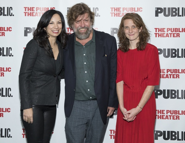 Director of Special Artistic Projects Stephanie Ybarra, Public Theater Artistic Director Oskar Eustis and Director Lee Sunday Evans
