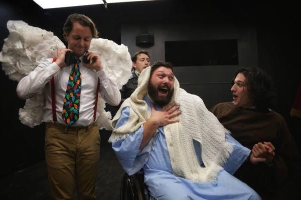 Matt Gorgone (Marley), Christopher Plonka (Rudolph), Nick Thibeault (Mary), and Matt Photo