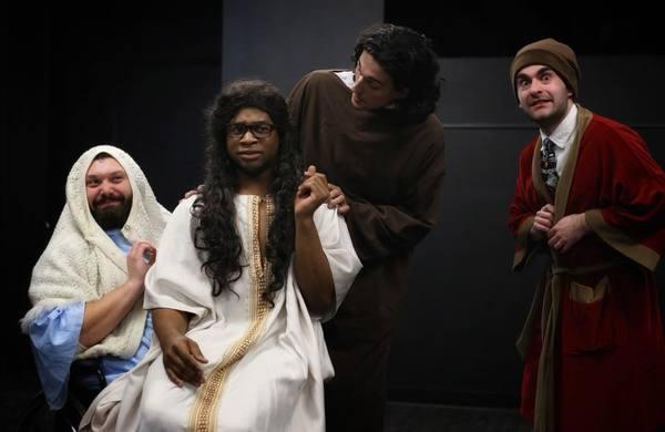 Nick Thibeault, Cardryell Truss (Jesus), Matthew Lavigne, Aaron Blanck (Scrooge)  Photo