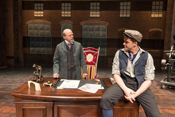 William Parry (Joseph Pulitzer) and Jonathan Shew (Jack Kelly)