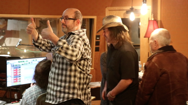 Christopher Ashley and Chris Jahnke  at the Original Broadway Cast Recording session  Photo
