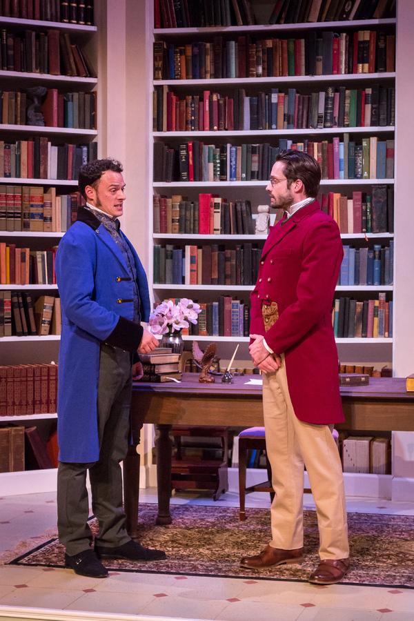 (l) Lee Osorio (Fitzwilliam Darcy) and (r) Jonathan Horne (Arthur De Bourgh)  Photo