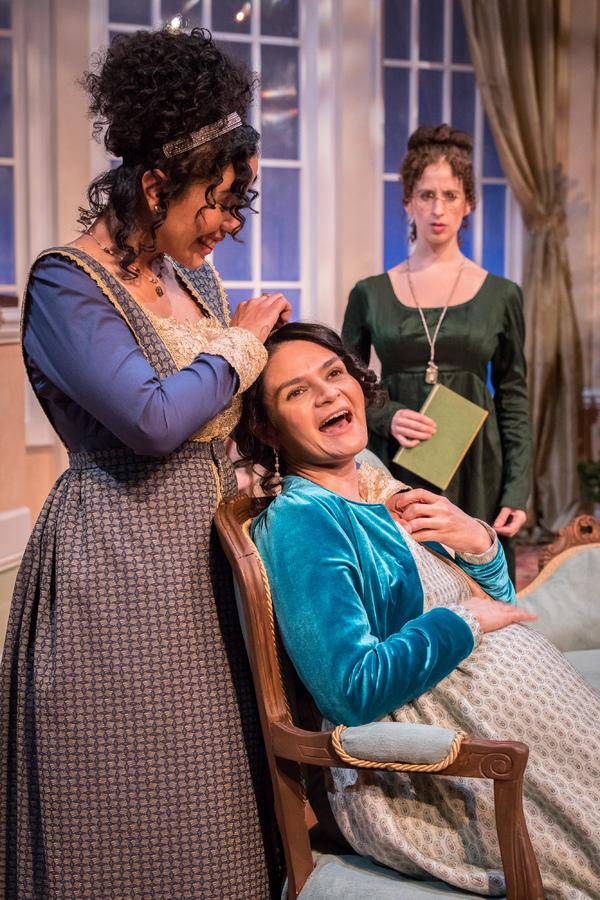 . left to right: Julissa Sabino (Elizabeth Darcy), Maria Rodriguez-Sager (Jane Bingle Photo