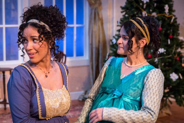 (l) Julissa Sabino (Elizabeth Darcy) and (r) Maria Rodriguez-Sager (Jane Bingley)  Photo