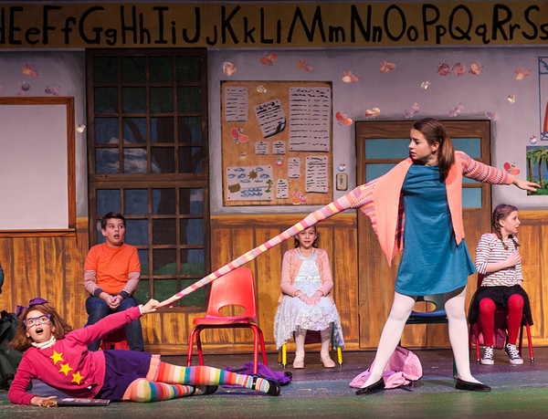 "Savannah Fouchi as ""Junie B' and Camille Burkey as ""Tattletale May"" Photo"