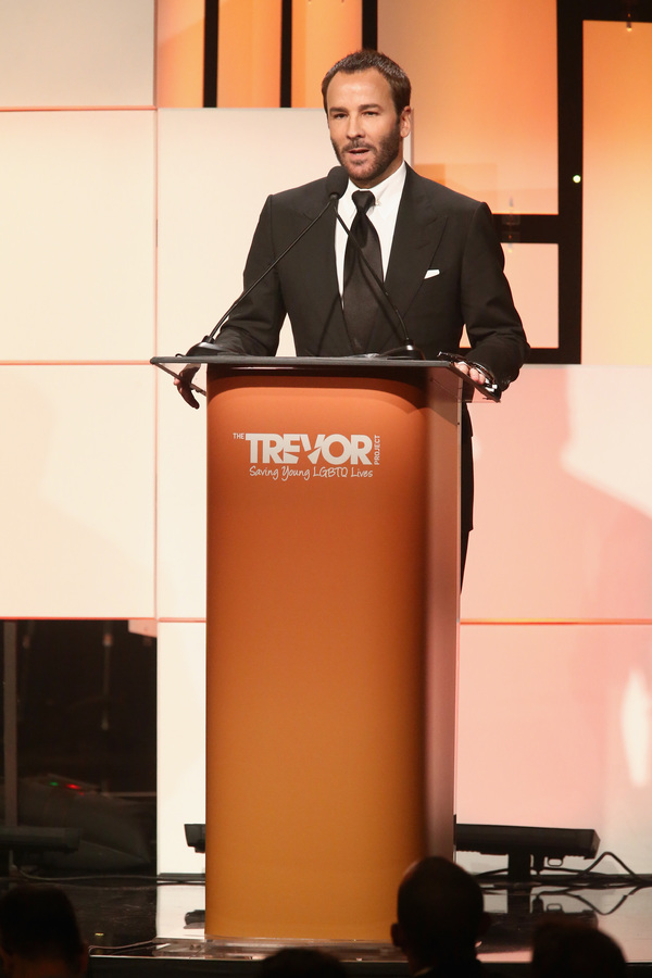 Honoree Tom Ford accepts the Hero Award Photo