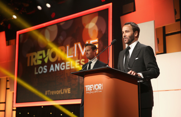Honoree Tom Ford accepts the Hero Award