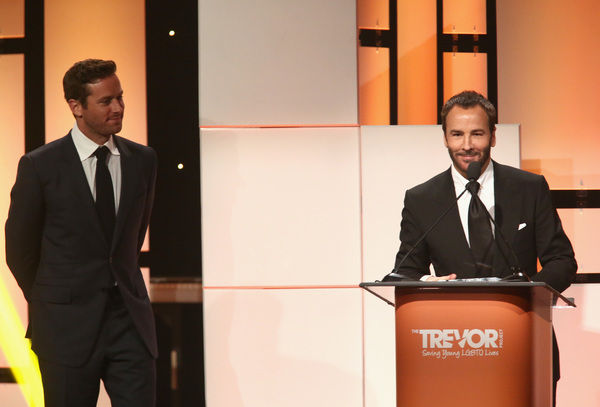 Honoree Tom Ford accepts the Hero Award from Armie Hammer Photo