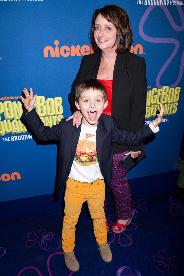 Rachel Dratch and her son