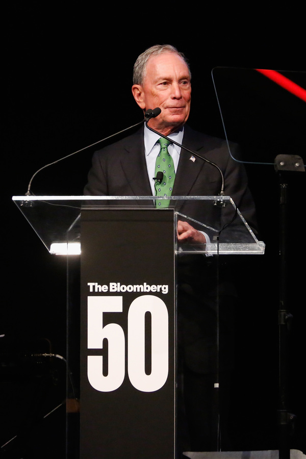 Michael Bloomberg speaks onstage during 'The Bloomberg 50' Celebration at Gotham Hall