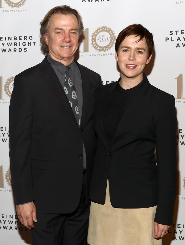 Actors Michael O'Keefe and Emily Donahoe