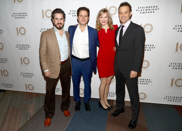 Matthew Saldivar, Steven Pasquale, Caroline Hewitt and Matt Rauch Photo