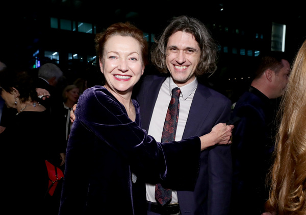 Julie White and honoree Lucas Hnath