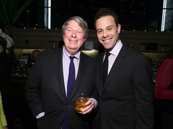 Artistic Director of Lincoln Center Theater Andre Bishop and actor Matt Rauch