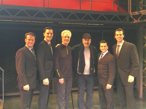 Nicolas Dromard (Tommy DeVito), Cory Jeacoma (Bob Gaudio), Bob Gaudio, Neil Diamond, Aaron De Jesus (Frankie Valli), Mark Edwards (Nick Massi)