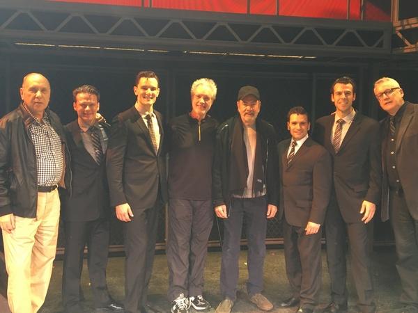Marshall Brickman, Nicolas Dromard (Tommy DeVito), Cory Jeacoma (Bob Gaudio), Bob Gaudio, Neil Diamond, Aaron De Jesus (Frankie Valli), Mark Edwards (Nick Massi), Rick Elice