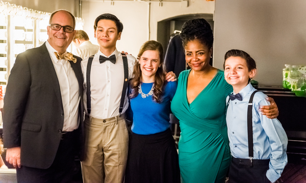 Brad Oscar, Sam Poon, Cherish Myers, Tonya Pinkins and Luca Padovan Photo
