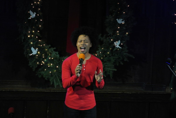 Avionce Hoyles belts out 'Have Yourself a Merry Little Christmas.'