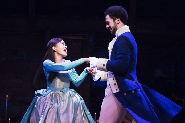 l-r Rachelle Ann Go (Eliza Hamilton) and Jamael Westman (Alexander Hamilton) - Photo  Photo