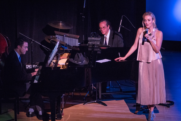 Andrew Gerle (at piano) with Betsy Wolfe