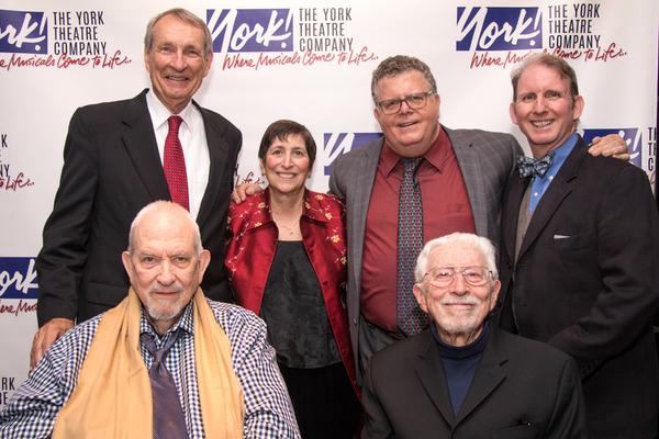 (top_ David McCoy, Joan Ross Sorkin, James Morgan, and Evans Haile; (bottom) Harvey Schmidt, and Tom Jones
