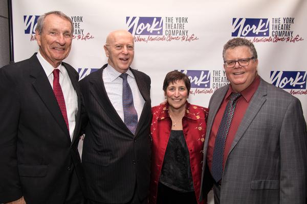 David McCoy, 2017 York Founders Award honoree Gerald F. Fisher,  Joan Ross Sorkin and James Morgan